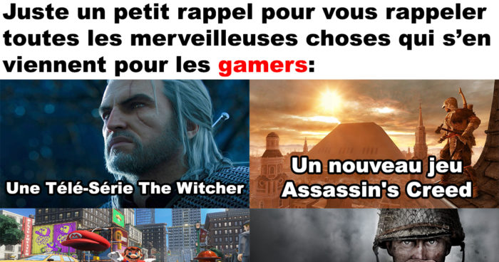 Un petit rappel pour les gamers