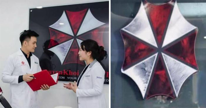 Resident Evil: Une clinique a choisi le logo d'Umbrella sans le savoir!