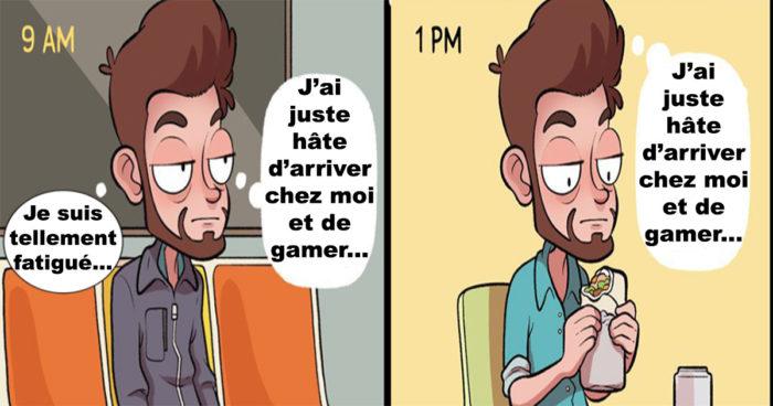Cette tristesse quand un gamer commence à avoir un travail exigeant