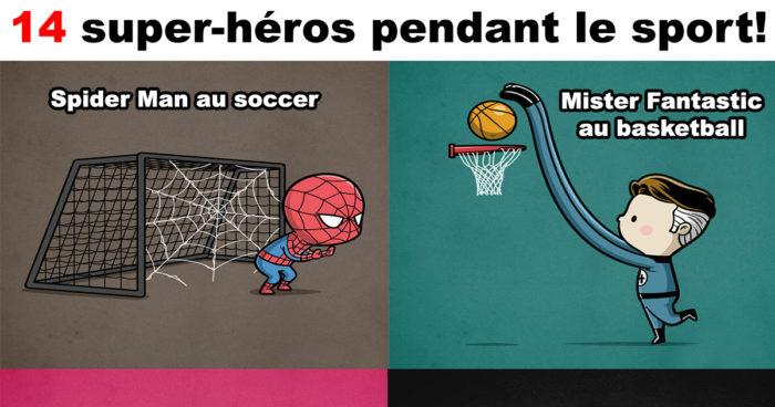 Un artiste a imaginé quel sport pourrait faire les super-héros!