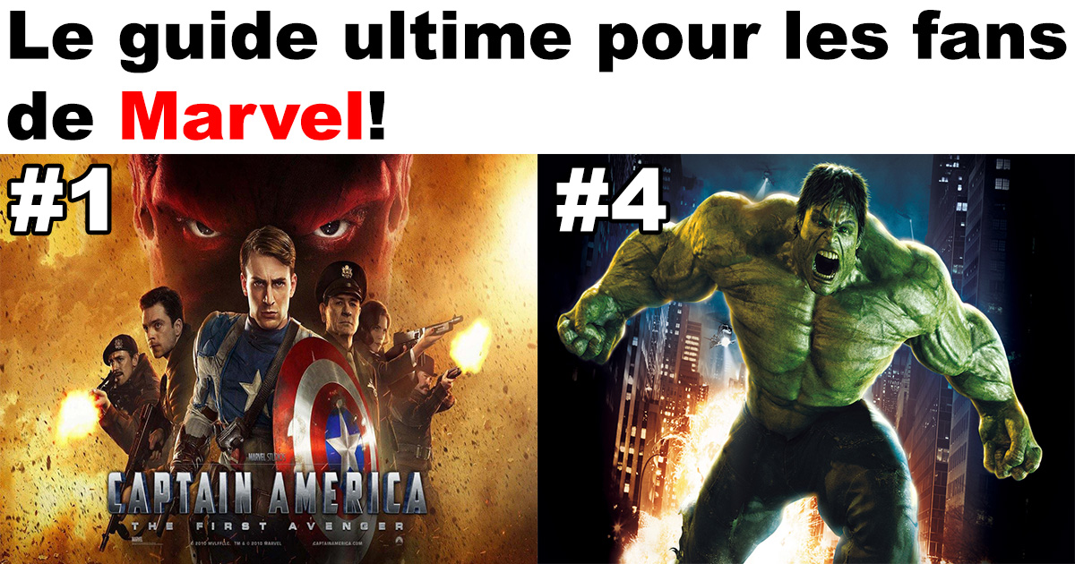 La liste des films du Marvel Cinematic classé par ordre