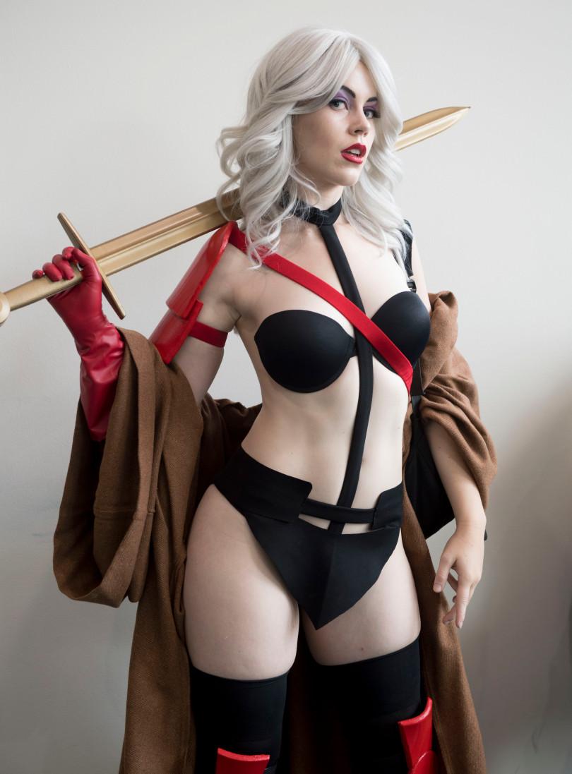 Sexual cosplay sexy girl and guys bikini