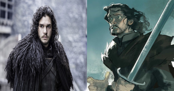Game of Thrones: Les personnages imaginés en dessin animé!