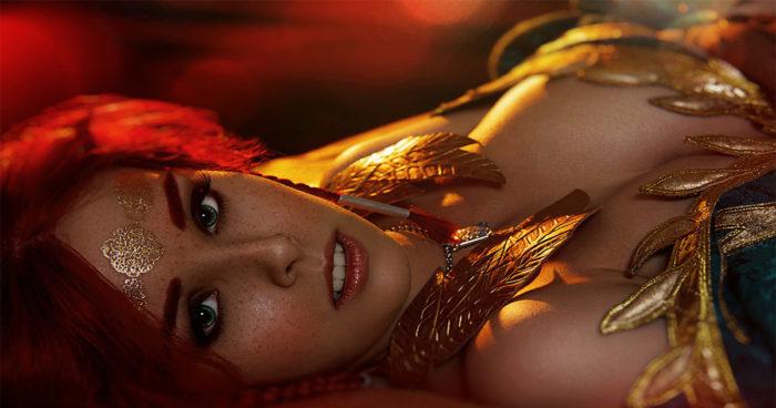 Un magnifique (et sexy) cosplay de Triss Merigold