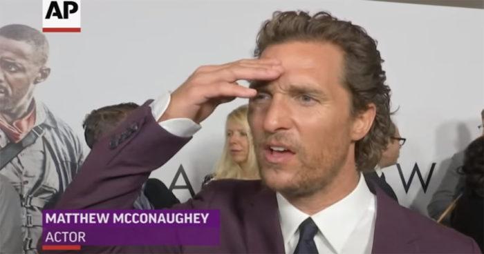 Matthew McConaughey apprend la mort de l'acteur Sam Shepard en direct!