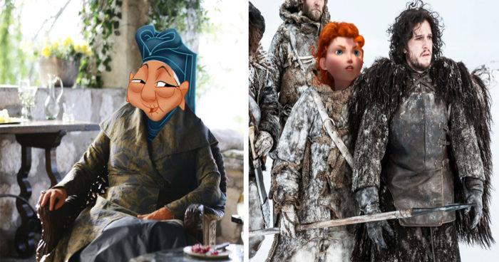 Quand on ajoute les personnages de Disney dans Game of Thrones