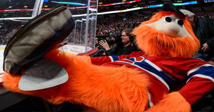 NHL 2018: Nous allons pouvoir jouer avec la mascotte Youppi!