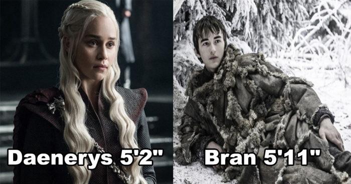 Game of Thrones: Le classement surprenant des acteurs par taille!