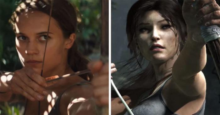 Tomb Raider: La comparaison le jeu VS le film!