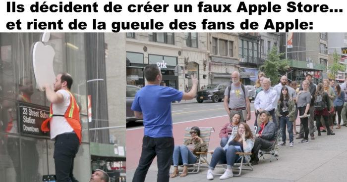 Ils décident de créer un faux Apple Store et rient de la gueule des fans de Apple