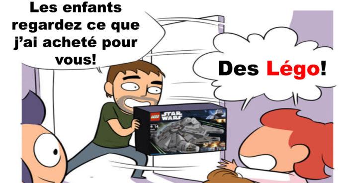 Quand tu achètes un Légo Star Wars à tes enfants