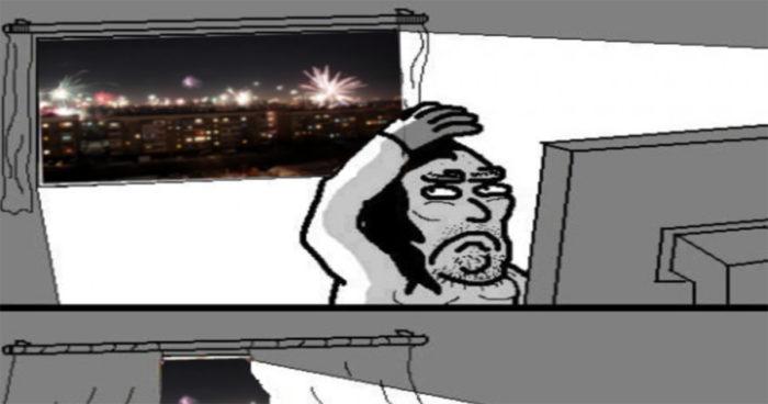 Les gamers pendant le jour de l'an