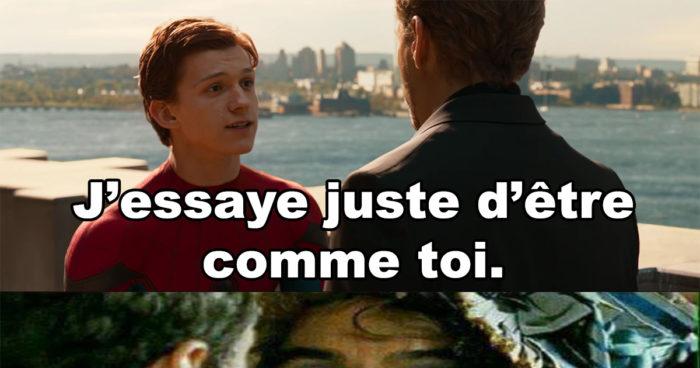 Ce que Iron Man voulait réellement dire à Spider-Man