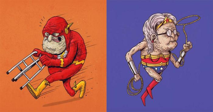 Voici à quoi ressembleront nos super-héros préférés dans 50 ans!