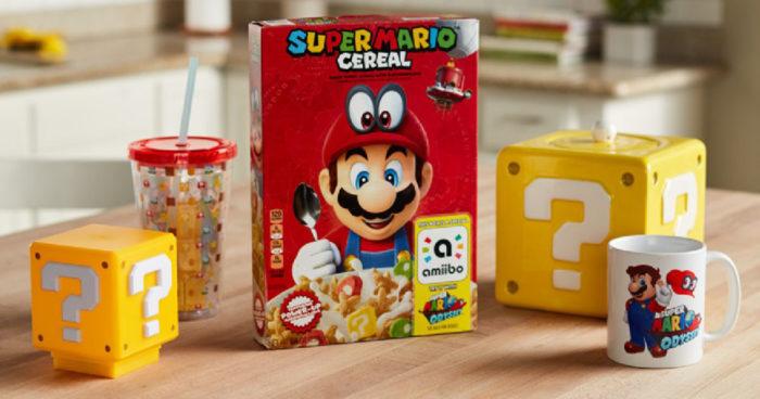 Des boîtes de céréales Mario qui vous offrent un amiibo en cadeau!