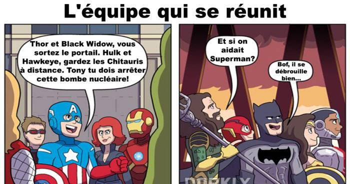Les Avengers vs La Justice League