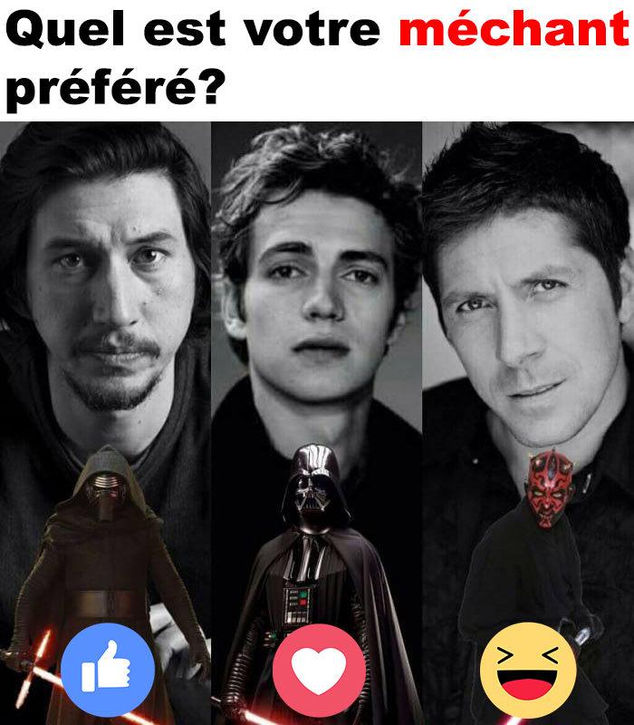 Quel est votre méchant  préféré?