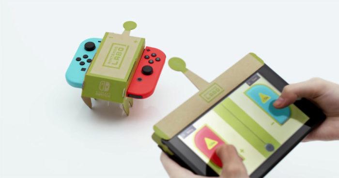 Nintendo mélange carton et jeu vidéo avec Nintendo Labo sur Switch