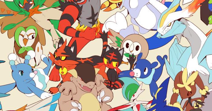 Après 350 heures de travail sur plus de 42 jours, il dessine les 807 Pokémons sur un seul dessin