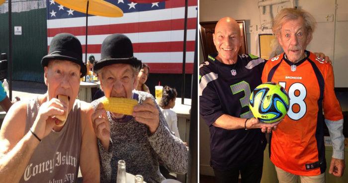 Ces photos montrent à quel point que Ian McKellen et Patrick Stewart sont les meilleurs amis du monde