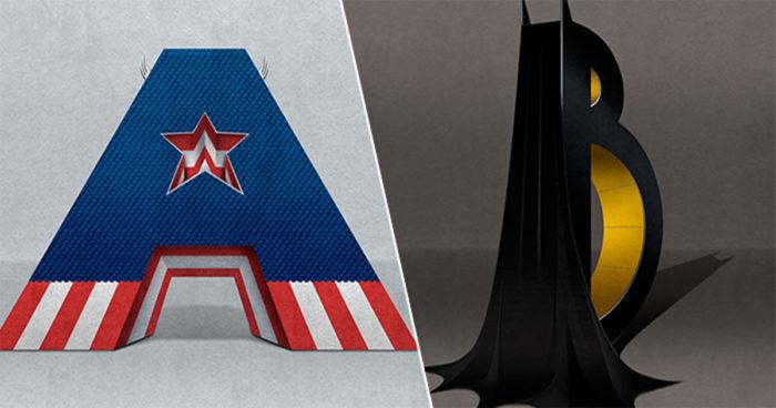 Une typographie qui rend hommage aux super-héros