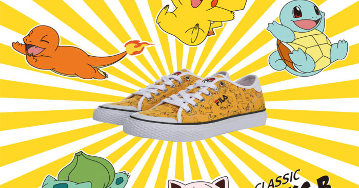 The Pokémon Company lance sa nouvelle collection de souliers en partenariat avec Fila