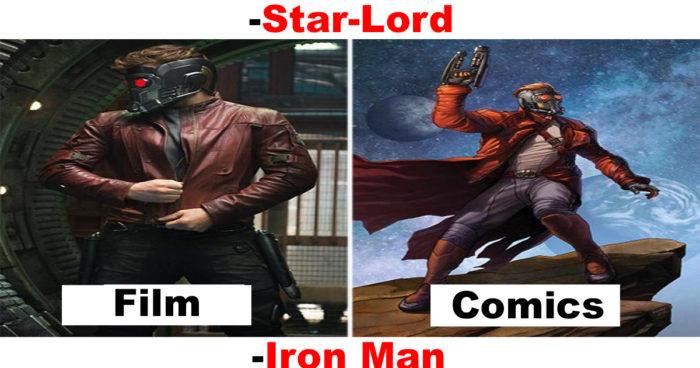 Les super-héros dans les films vs dans les comics