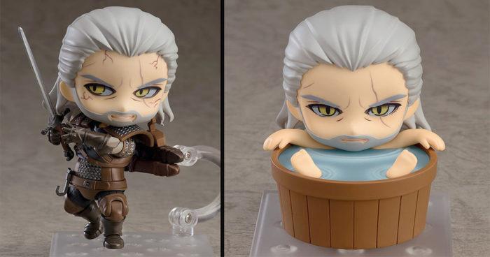 Geralt s'offre une nouvelle figurine qui peut même prendre son bain