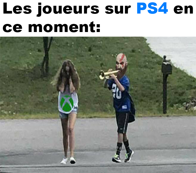 Les joueurs sur PS4