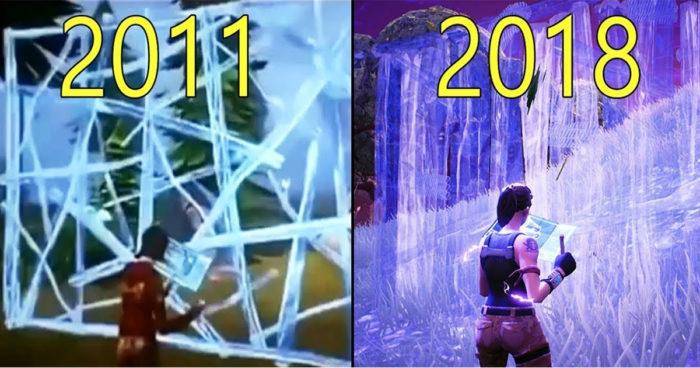Fortnite: Évolution graphique du jeu avant sa sortie 2011 à 2018 (VIDÉO)