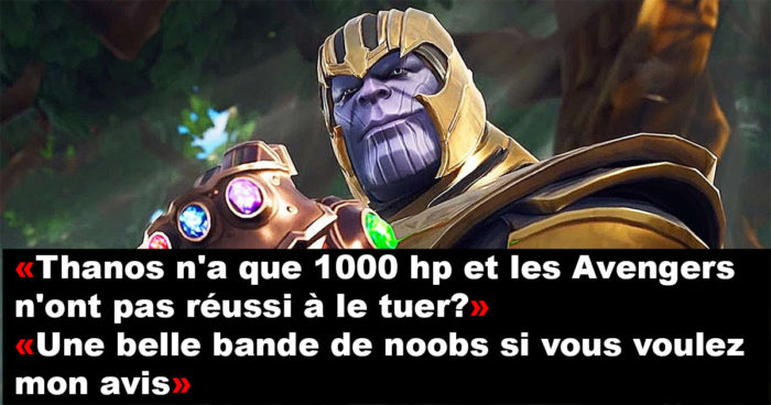 Fortnite: Les joueurs profitent du jeu pour troller Thanos