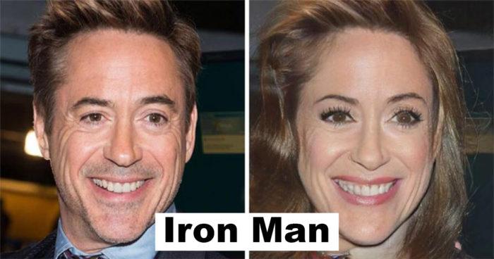 Voici à quoi ressembleraient les acteurs de Marvel s'ils étaient des femmes