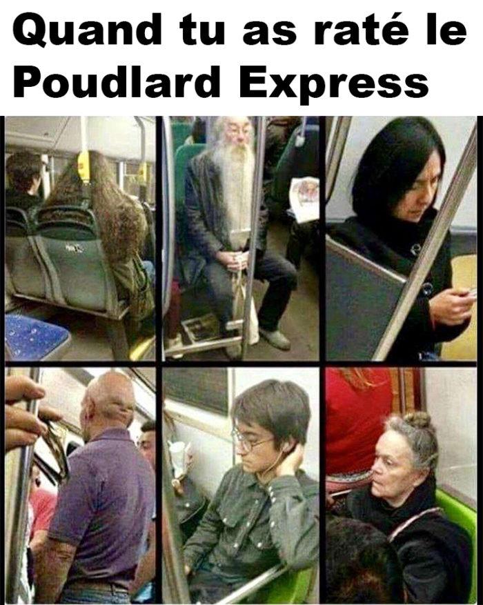 Quand tu as raté le Poudlard Express