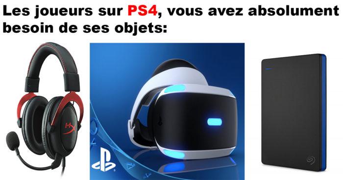 10 objets indispensables pour les joueurs sur PS4