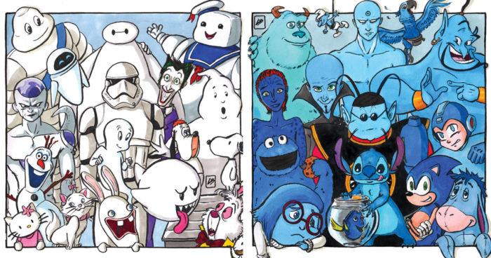 Cette artiste s'est amusée à trier les personnages de la pop-culture selon leurs couleurs