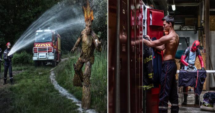 Ces pompiers ont décidé de faire un calendrier très spécial avec les supers-héros Marvel et DC