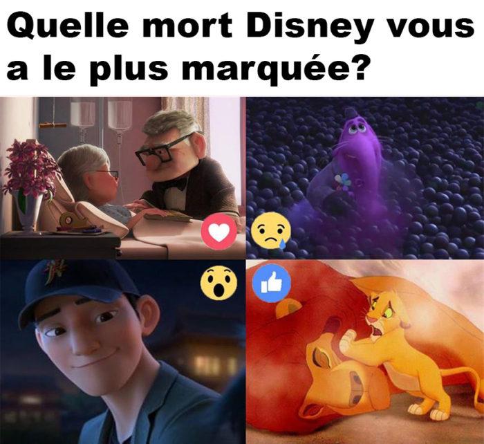 Quelle mort Disney vous a le plus marquée?