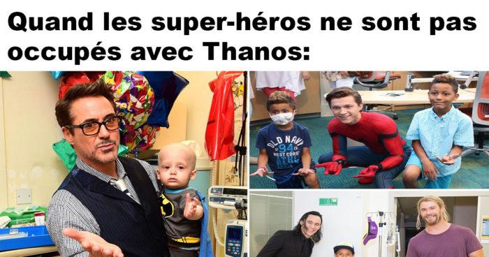 Les super-héros Marvel pendant leur mission la plus importante