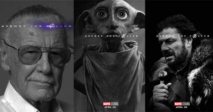 Quand les internautes détournent les affiches d'Endgame en hommage à d'autres personnages