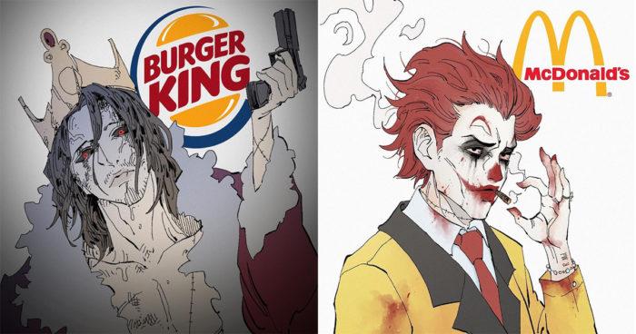 Cet artiste transforme les grandes marques en personnage de manga