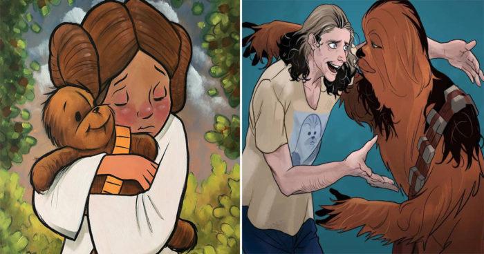Ces artistes rendent hommage à Peter Mayhew, l'acteur derrière Chewbacca