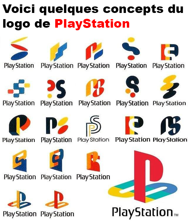 Quelques concepts du logo de PlayStation