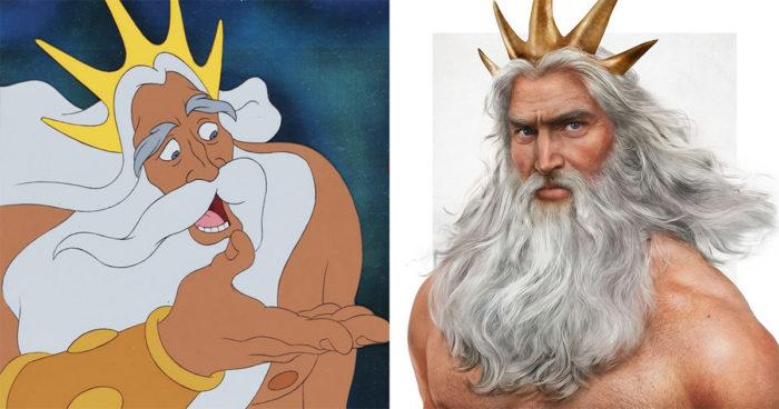 Cet artiste dessine les papas de Disney avec un réalisme impressionnant