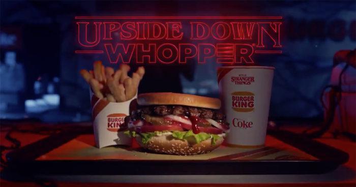 Burger King va sortir un Whopper à l'envers pour célébrer la nouvelle saison de Stranger Things