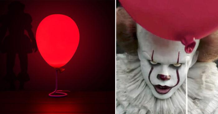 Cette lampe qui fait référence au ballon de Pennywise arrive juste à temps pour Halloween