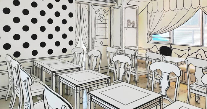 Ce café de Tokyo vous donne l'impression de manger dans une BD noir et blanc