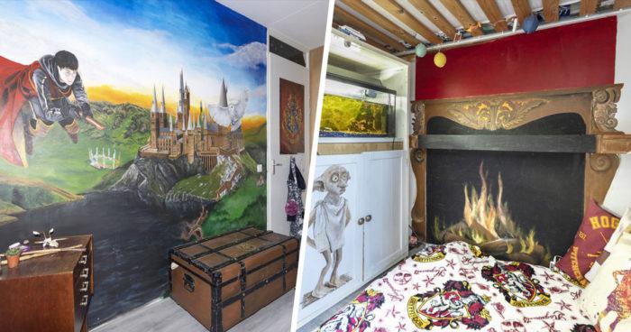 Cette maman a transformé la chambre de sa fille en dortoir de Poudlard