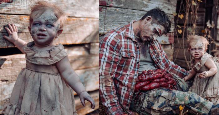 Cette maman a transformé son bébé en zombie pour l'Halloween