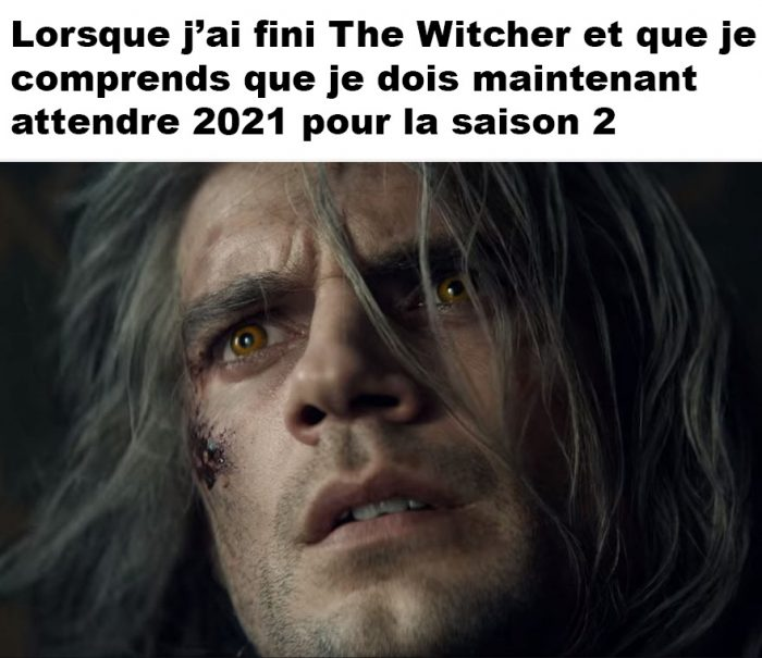 Lorsque j'ai fini The Witcher