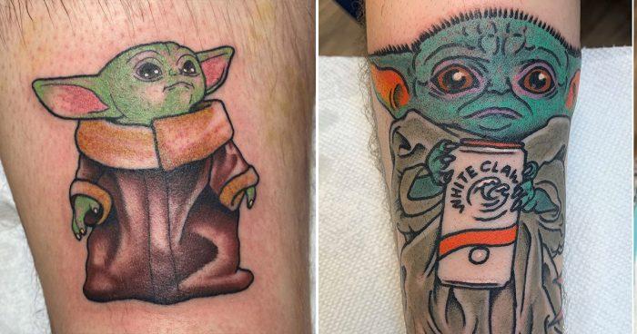 La nouvelle mode sur internet, se tatouer baby Yoda de la série The Mandalorian [35 images]